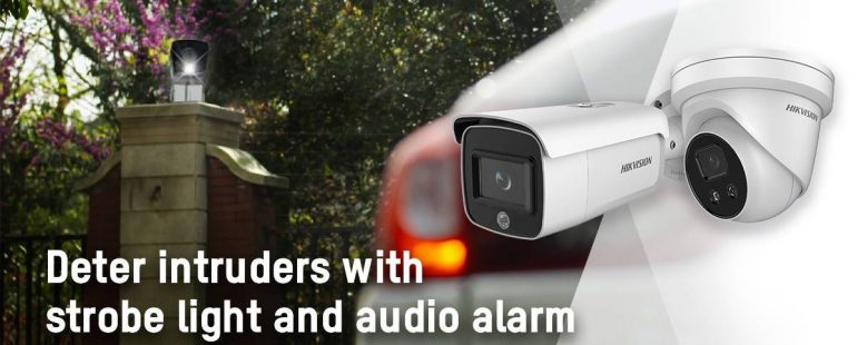 Hikvision launches AcuSense network cameras with strobe light and alarm